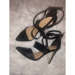 Express black strapy heels size 7 ✨